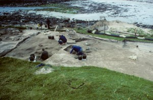 Udal, North Uist. Archaeologists and volunteers at work