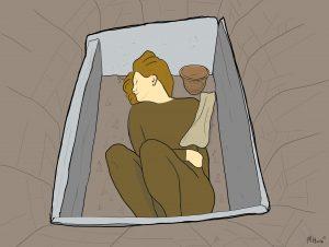 Illustration of Achavanich Beaker Burial