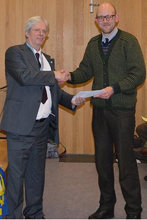 Award presentation in 2017.