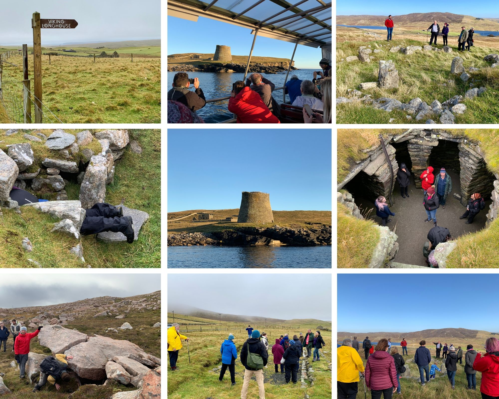 Delegates visit a variety of archaeological sites during the Scotland's Islands Research Framework for Archaeology symposium in Shetland ScARF