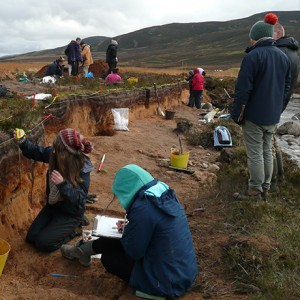 Research on Mesolithic and Neolithic activity in the Cairngorms. Copyright:University of Aberdeen