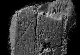 Laserscan of inscribed stone