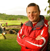 Andrew Birley at Vindolanda