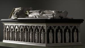 The 3D digital visualisation of Bruce's tomb. © Digital Design Studio