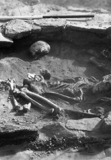 Cist burial at Law Road, North Berwick