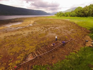 'Unknown Historic Vessel' by Dr Jonathan Benjamin was captured as the archaeology emerged at Loch Fyne on the west coast of Argyll and Bute. Benjamin was a runner-up in the Wish You Were Here' over 25 category as part of Dig Art! 2015.