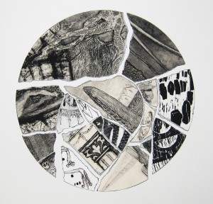 Composed of scraps of previous prints and drawings, each fragment reflects a different time in our past, connecting objects and sites from Scotland, Britain and Europe. 'Fragments' by Clare Yarrington won the 'Putting the Art in Archaeology' over 25 category as part of Dig Art! 2015.