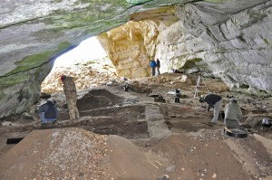 Excavation underway in Covesea Cave 2