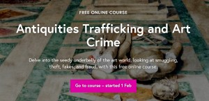 Antiquities Trafficking and Art Crime course web page