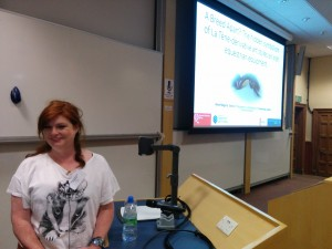 Rena about to present at the Europa conference