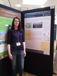 Ulle with her poster at the C14 and Archaeology conference