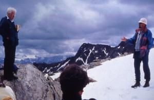 Photograph of Oetzi Iceman site