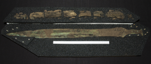 Bronze Age sword and wooden scabbard
