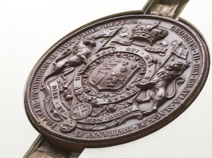 Great Seal of Scotland presented to the Society in 1783