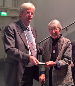 Presentation of the Dorothy Marshall Medal to Audrey Henshall at the 2016 Anniversary Meeting