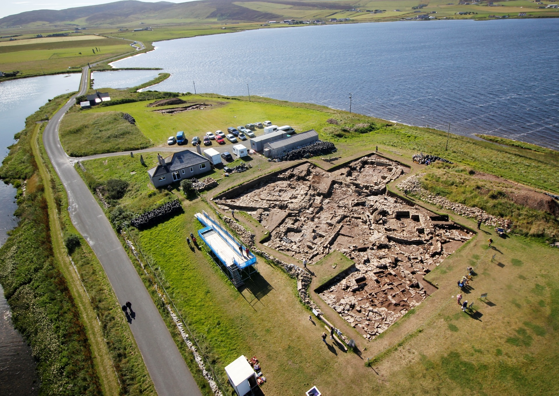The Ness of Brodgar under excavation