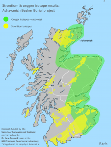 Oxygen isotope map of Scotland