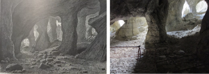 Illustrations of the alum cave