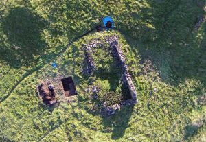Excavation at 'the bothy' on Staffa