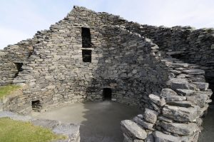 Photograph of the interior of Dun Carloway, a broch on Lewis, Western Isles