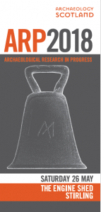 Cover of Archaeological Research in Progress 2018 programme leaflet