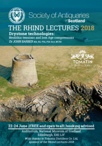 Image of the front of the 2018 Rhind Lectures leaflet