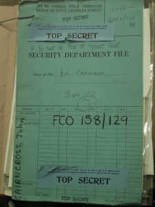 John Cairncross Security Department File document