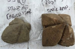 Photograph of moulding finds
