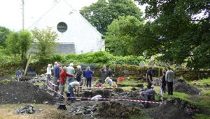 Photograph of Open Day on Lismore excavation