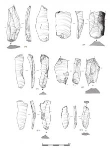 Lithic artefact illustrations