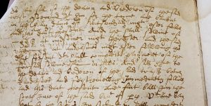 Photo of written text from archive