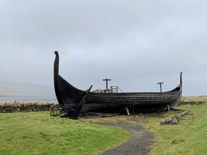 Viking longship reconstruction in Shetland