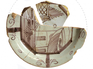 Photo of pieces of painted pottery
