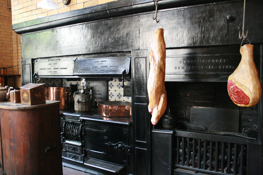 Photo of the kitchen at Cragside in Northumberland
